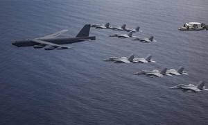 """B-52 bay thẳng từ Mỹ đến Biển Đông tập trận """"dằn mặt"""" Trung Quốc"""