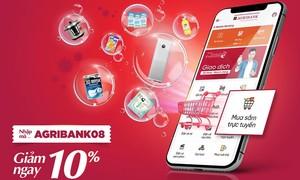 Agribank E-Mobile Banking: Giảm ngay 100.000 VNĐ khi mua sắm trực tuyến