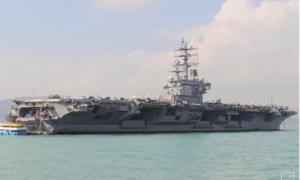 """Tàu sân bay Mỹ diễn tập trên Biển Đông """"dằn mặt"""" Trung Quốc"""