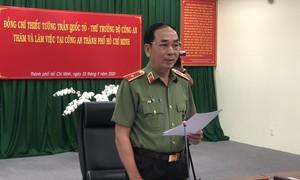 Thứ trưởng Trần Quốc Tỏ thăm và làm việc với Công an TPHCM