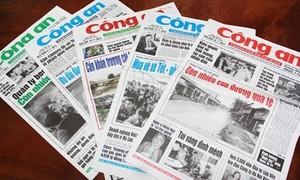 Thông tin về việc sắp xếp báo chí trong lực lượng Công an nhân dân
