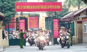 Công an TP.Hà Nội ra quân đảm bảo tuyệt đối an ninh, an toàn Đại hội XIII của Đảng