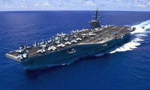 Tàu sân bay Mỹ tập trận cùng tàu khu trục trực thăng của Nhật ở Biển Đông