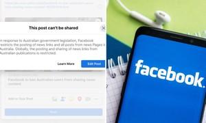 Facebook bị phản ứng khi ngưng cập nhật nội dung tin tức trên newsfeed ở Úc