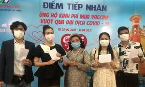Sao Việt ủng hộ kinh phí mua vaccine vượt qua COVID-19