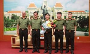 Thứ trưởng Nguyễn Văn Sơn làm việc tại Công an TPHCM