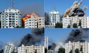 Israel ném bom nhà thủ lĩnh Hamas ở Gaza, phá huỷ trụ sở hãng tin