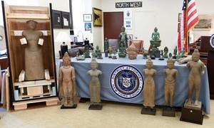 Mỹ trả lại 27 cổ vật quý hiếm bị đánh cắp cho Campuchia
