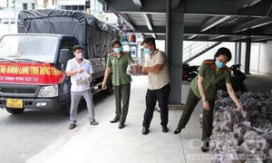 Công an TPHCM chung tay giải cứu khoai lang tím hỗ trợ nông dân Đồng Tháp