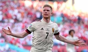 Clip trận Kevin De Bruyne toả sáng, giúp Bỉ thắng Đan Mạch