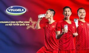 Vinamilk tự hào mang đến nguồn dinh dưỡng vàng cho Đội tuyển Việt Nam