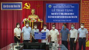 Sun Group tặng Hà Tĩnh và Hưng Yên trang thiết bị y tế điều trị Covid-19
