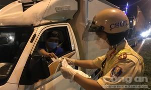 Tăng cường kiểm soát trật tự an toàn giao thông gắn với phòng chống dịch
