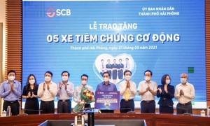 SCB tặng Hải Phòng 5 xe cơ động tiêm chủng