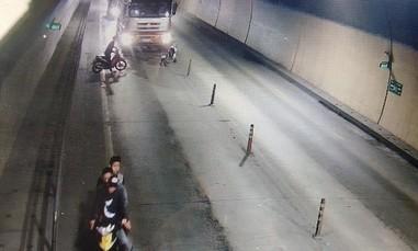 Triệu tập nhóm thanh niên chặn xe tải lưu thông trong hầm Phước Tượng