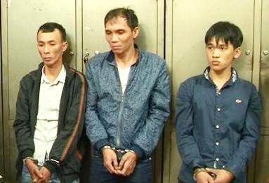 Các đối tượng bị bắt giữ.
