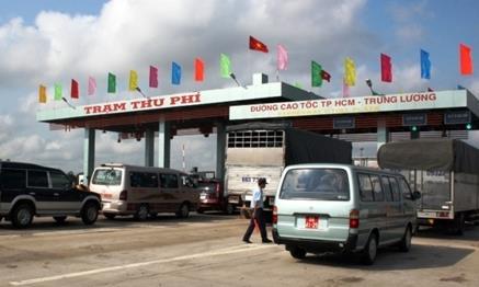 Trạm thu phí cao tốc TP.HCM - Trung Lương. Ảnh minh họa