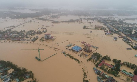Mưa lớn, nước sông lên nhanh, nguy cơ Quảng Trị tiếp tục bị lũ lụt