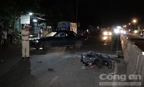Hiện trường vụ tai nạn- Ảnh: Oanh Nguyên