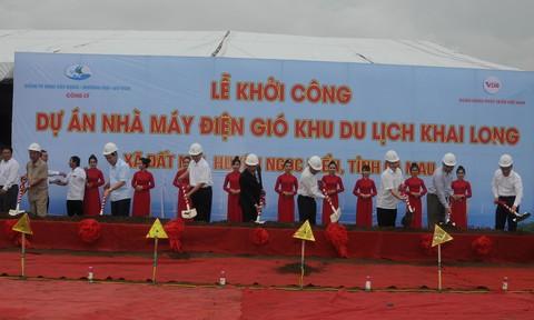 Khởi công dự án điện gió Khu du lịch Khai Long gần 6.000 tỷ đồng