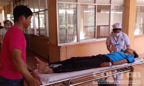 Các nạn nhân bị thương được cấp cứu tại bệnh viện