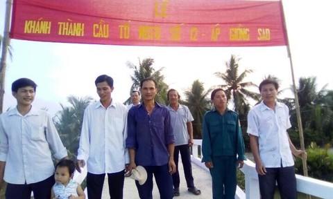Thêm một cây cầu bê tông nông thôn cho tỉnh Bến Tre