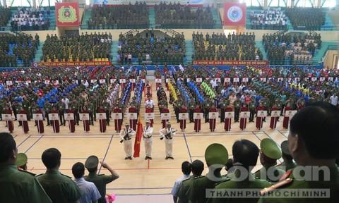 Hơn 1.600 CBCS tham dự Hội thao lực lượng CAND năm 2018