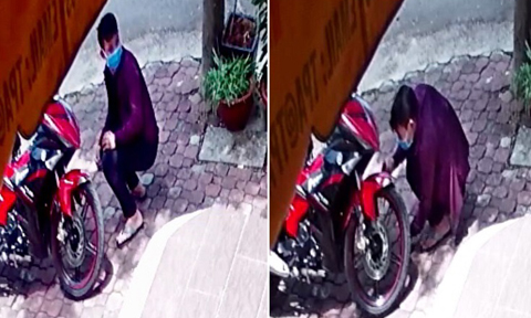 Clip tên trộm bẻ khóa trộm xe trong 1 phút ngay khu dân cư
