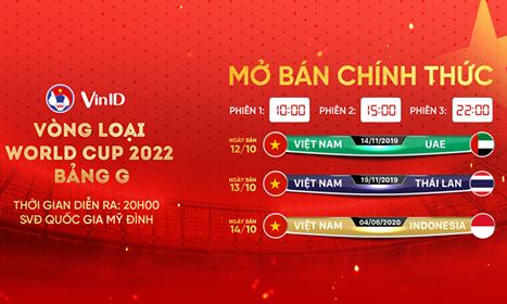 Nhanh tay săn vé 3 trận tiếp theo của tuyển Việt Nam trên VinID