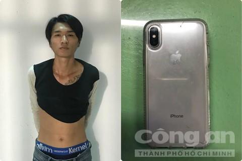 Vừa giật điện thoại của du khách, tên cướp bị trinh sát bắt gọn