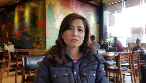 Chị Trần Thị Thanh Mỹ bức xúc trình bày, đề nghị.