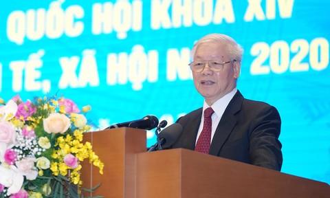 Tổng Bí thư, Chủ tịch nước Nguyễn Phú Trọng phát biểu tại Hội nghị
