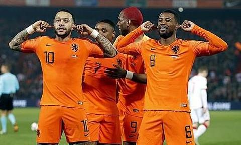 Vòng loại Euro 2020: Hà Lan thắng 4-0 trận ra quân