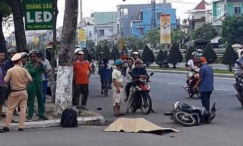 Thiếu niên 14 tuổi chạy xe máy lao lên vỉa hè, 1 người tử vong