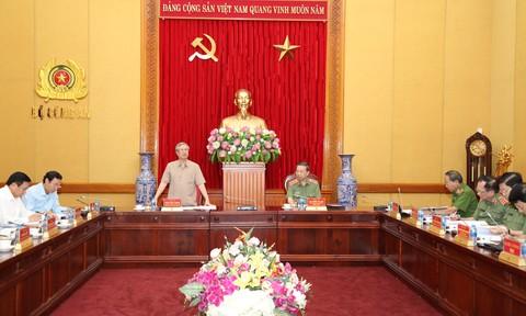 Đoàn Tiểu ban Văn kiện Đại hội XIII làm việc với Đảng uỷ Công an Trung ương