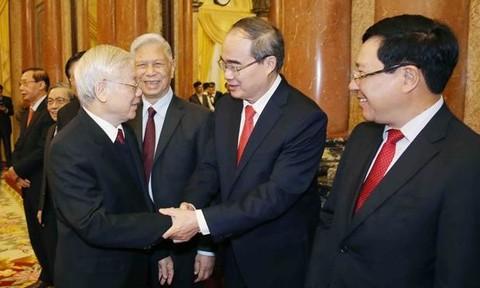 Tổng Bí thư, Chủ tịch nước gặp mặt, chúc Tết lãnh đạo Đảng, Nhà nước