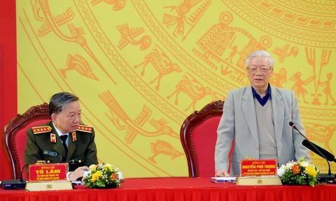 Tổng Bí thư, Chủ tịch nước dự và phát biểu chỉ đạo tại Hội nghị Đảng ủy CATW