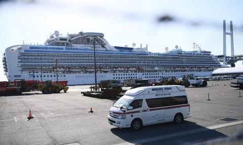 Số người nhiễm nCoV trên du thuyền Diamond Princess lên đến 454 ca