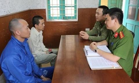 Công an làm việc với các đối tượng người Trung Quốc