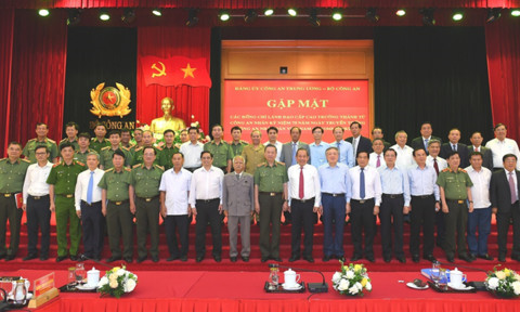 Bộ Công an gặp mặt các lãnh đạo cấp cao trưởng thành từ lực lượng CAND
