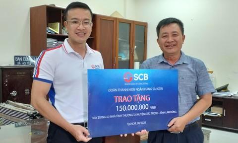 Đoàn thanh niên SCB tặng 3 căn nhà  tình thương trị giá 150 triệu đồng