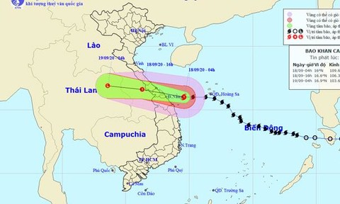 Bão số 5 giật cấp 12, ngay trên vùng biển Quảng Bình - Quảng Nam