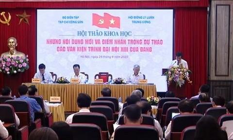 Những điểm nhấn trong dự thảo các văn kiện trình Đại hội XIII của Đảng