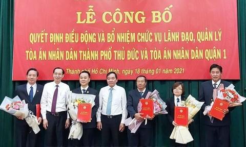 Bổ nhiệm ông Nguyễn Thành Vinh làm Chánh án TAND TP.Thủ Đức
