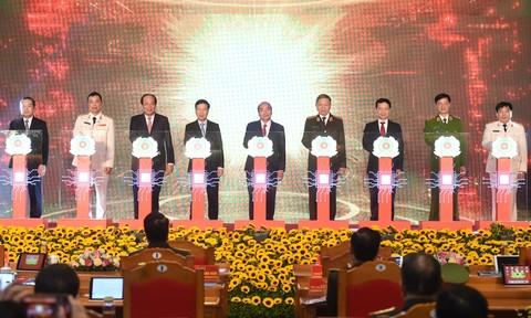 Hình ảnh Lễ khai trương 2 hệ thống đặc biệt quan trọng tiến tới Chính phủ điện tử