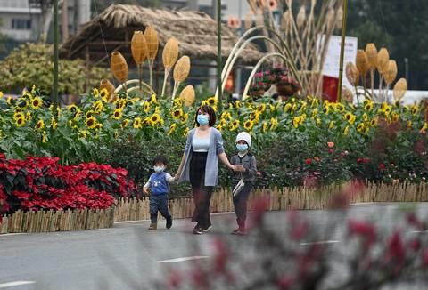 Hoa cỏ mùa xuân hội tụ trên khu đô thị Splendora
