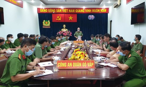 Công an TPHCM kiểm tra công tác bảo vệ bầu cử tại Công an quận Gò Vấp