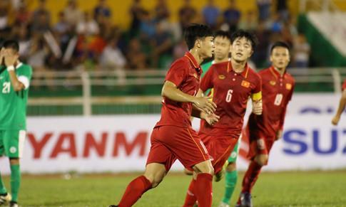 Đại thắng Macau, U22 Việt Nam lên ngôi nhất bảng