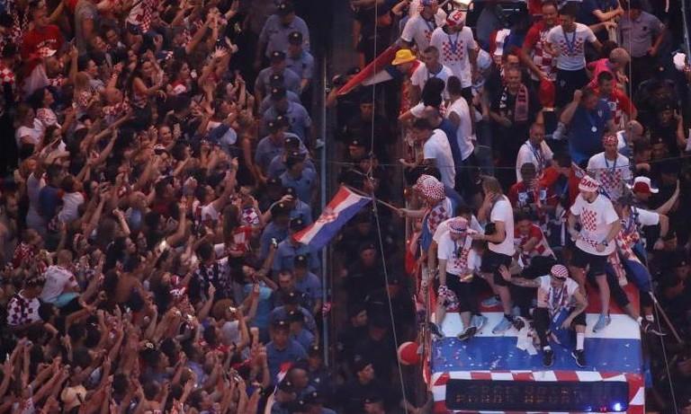 Hơn 500.000 người xuống đường chào mừng đội tuyển Croatia