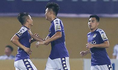 Clip trận Hà Nội FC vùi dập Viettel 5-2, Quang Hải lập cú đúp